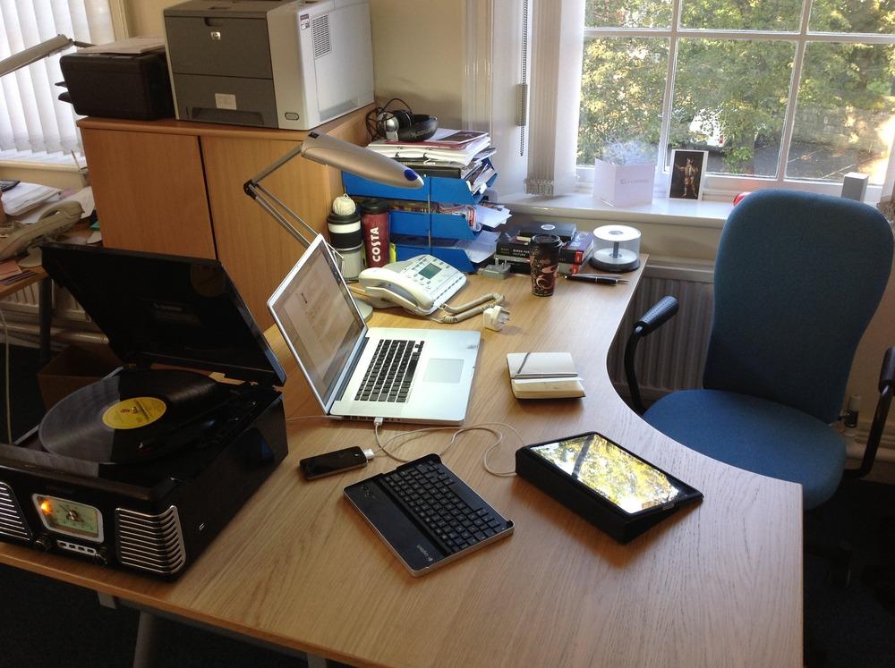 My Work Desk Vinyl Mac Ipad Iphone Coffee