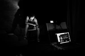 Jamie Shelton rehearsing