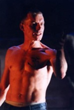 Karl Haynes as Skin Lad, Road 2002/3 directed by Marcus Romer Lyric Theatre Hammersmith, York Theatre Royal National tour